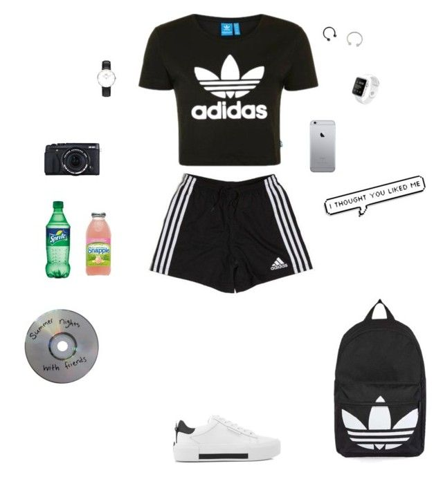 """Senza titolo #269"" by alicemasiero ❤ liked on Polyvore featuring adidas, Topshop, Kendall + Kylie, Miss Selfridge, Hot Topic, Daniel Wellington and Fujifilm"