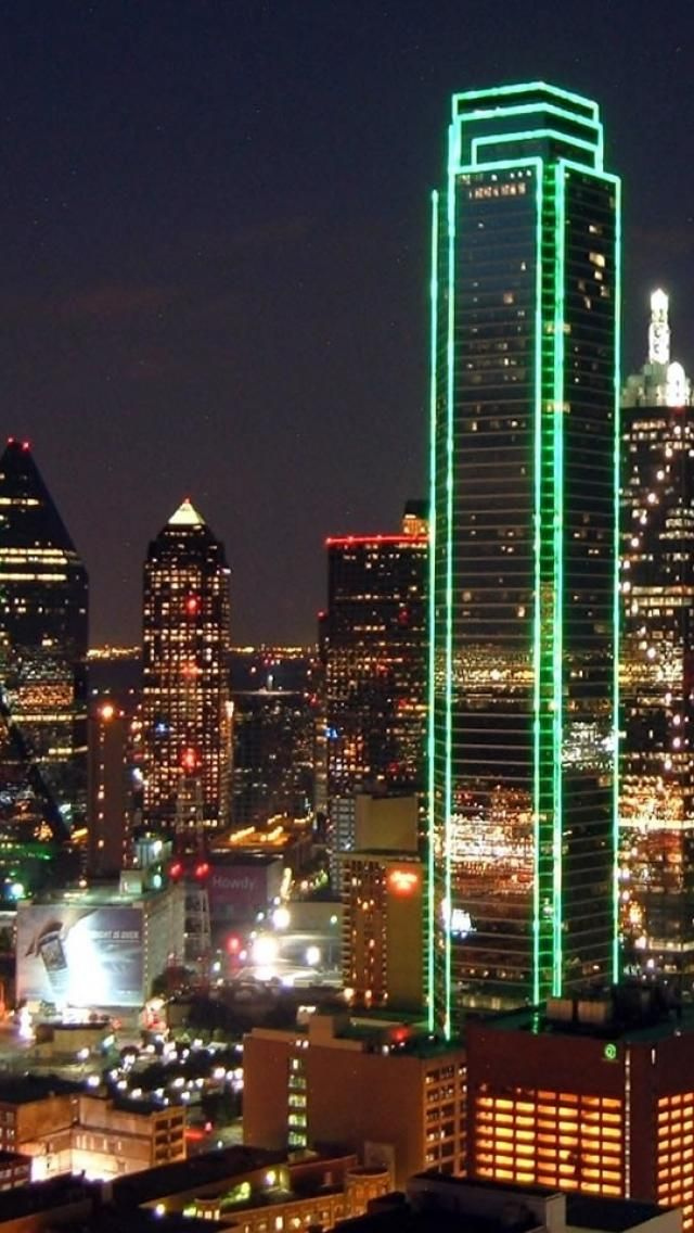 Dallas, Texas. That hotel is near where they placed us and we partied on the top floor. I could see the lit up green from the windows.