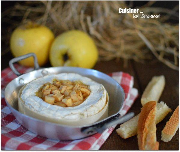 Camembert Pomme - Cidre au four - Cuisiner... tout Simplement, Le Blog de cuisine de Nathalie