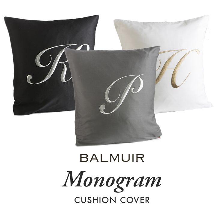 Balmuir monogram cushion covers available www.balmuir.com/shop