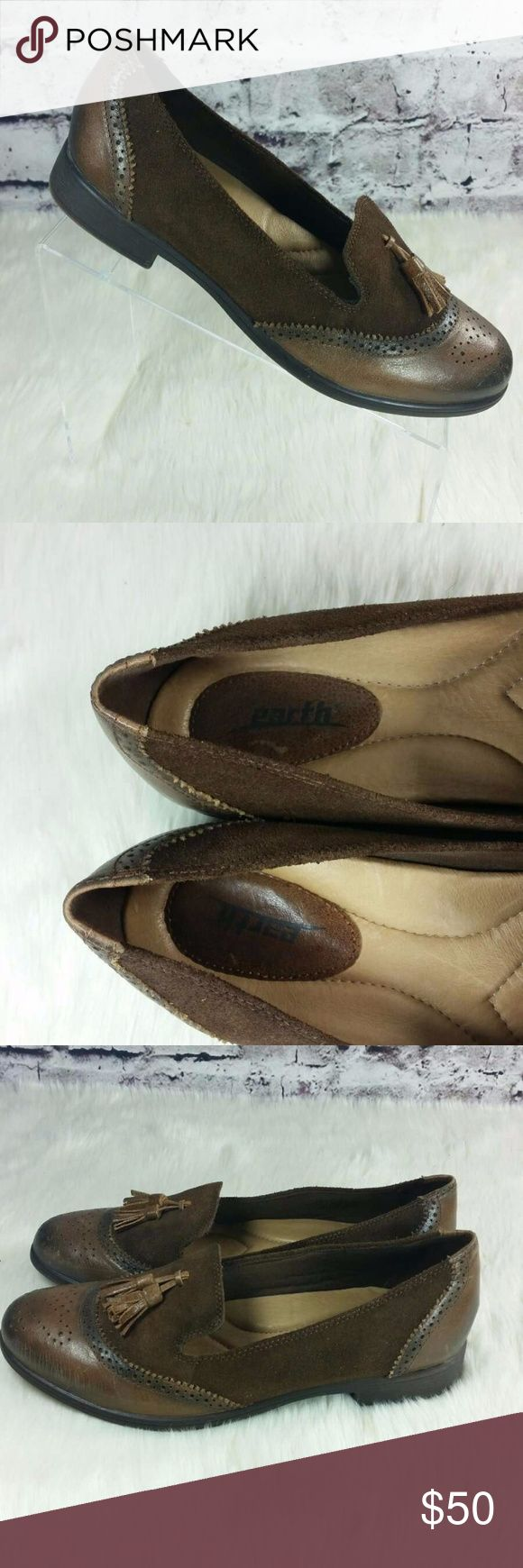 """Earth Shoes Scarlet almond womens brogue loafers Earth Shoes Scarlet almond womens brogue tassel loafers 9B  heel:1""""  Condition: pre owned with minor wear. see all pics Earth Shoes Shoes Flats & Loafers"""