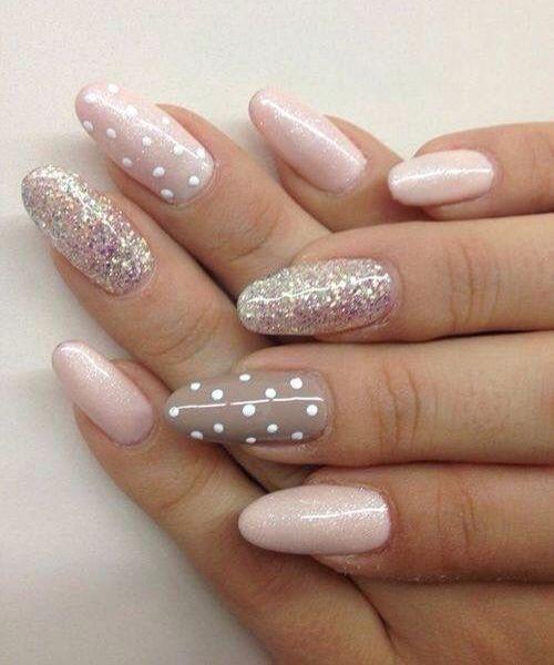 Pretty and Easy Glitter Nail Art Designs