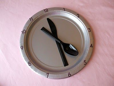 This particular party may be Cinderella, but I still love the clock place setting for an Alice themed party...