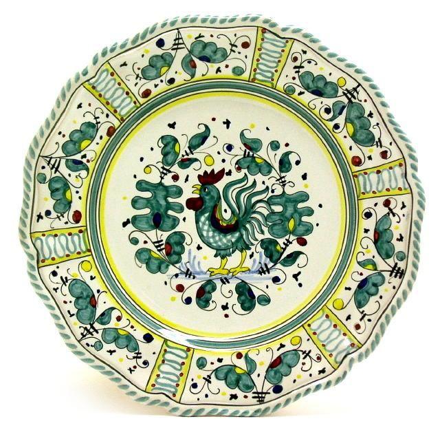 ORVIETO VERDE: Charger Buffet Platter (13 D) Fluted Rim