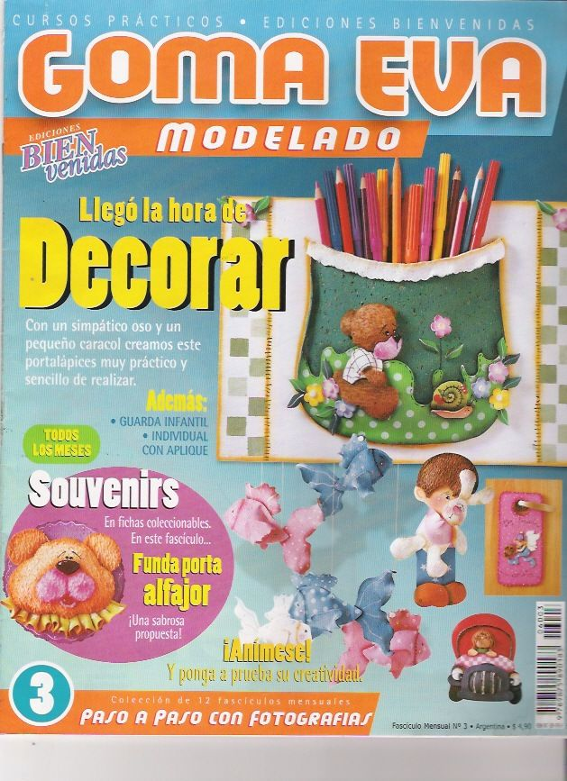 Revistas de Manualidades Para Descargar: Goma Eva Modelado N°3