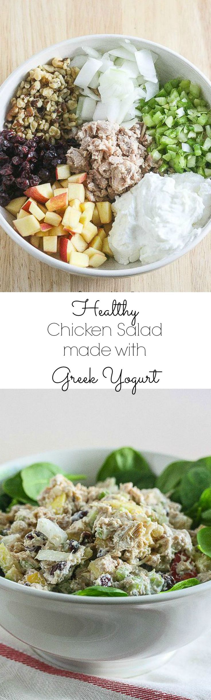 Healthy Chicken Salad made with Greek Yogurt @PacificFoods #NourishEveryBody (Chicken Healthy)