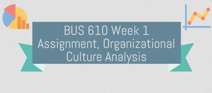 BUS 610 Week 1 Assignment Organizational Culture Analysis (Two papers)Submit a two-three page APA formatted paper, using a minimum of three references, describing the culture of one of the following (the United States of America or your current or past place of employment).Your paper should address