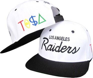 28f45023467 Los Angeles raiders tisa nba snapback hats black white