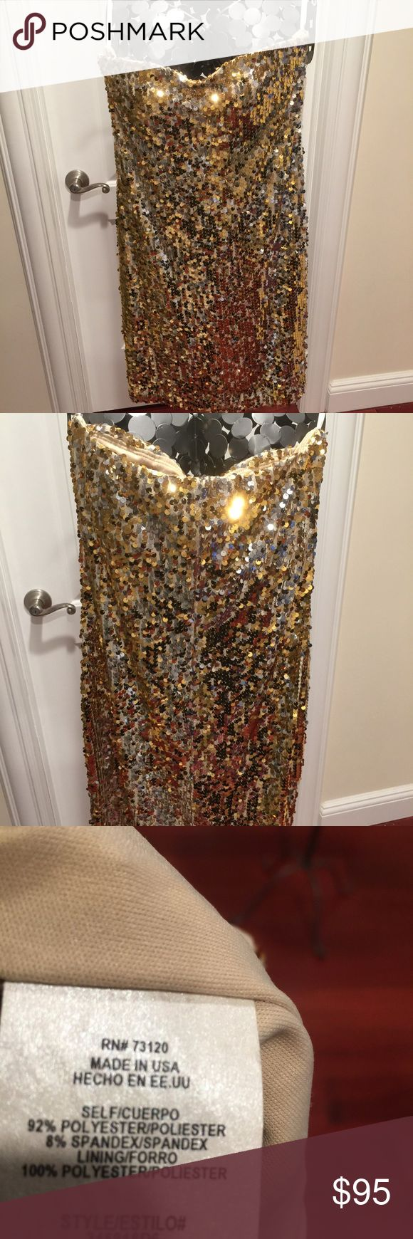 Fredericks Of Hollywood Dress Fredericks of Hollywood gold bling bling formal dress. Very sexy hardly worn mint conditions Frederick's of Hollywood Dresses Mini