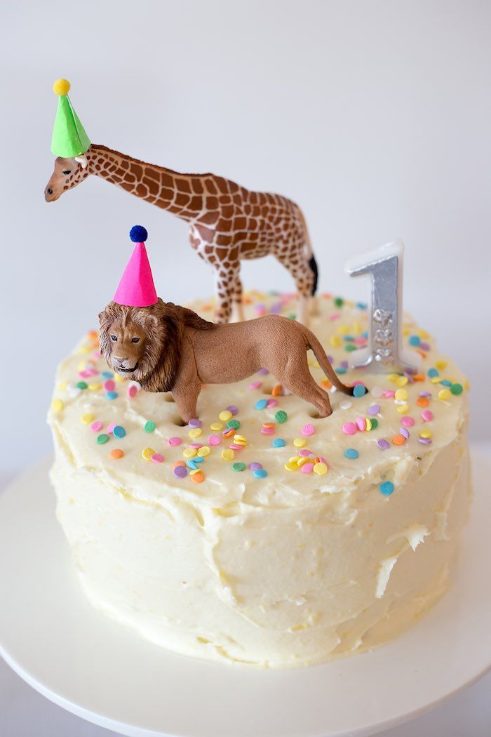 Cake from a Party Animal 1st Birthday Party via Kara's Party Ideas | KarasPartyIdeas.com (12)