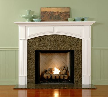 the lexington wooden fireplace mantel is an affordable arched mantel offered in a variety of finishes - Moderner Kamin Umgibt Kaminsimse