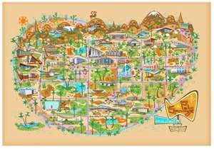 Mid-Century map of Palm Springs, CA by Nat Reed. www.natreed.com