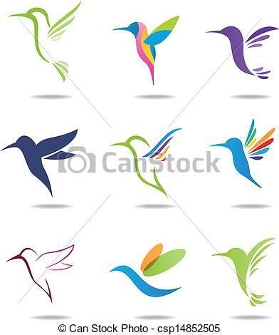 Vector - Hummingbird logo - stock illustration, royalty free illustrations, stock clip art icon, stock clipart icons, logo, line art, EPS picture, pictures, graphic, graphics, drawing, drawings, vector image, artwork, EPS vector art