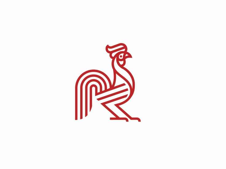 animal rooster red design natural illustration chicken logo mark symbol man line