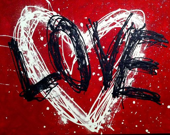 """#Art_By_Vanessa- #Item Of The Day- Art Original Abstract """"LOVE IS MAGIC"""" on canvas by OriginalArtByVanessa http://etsy.me/XsN6b0 via @Etsy, $100.00"""