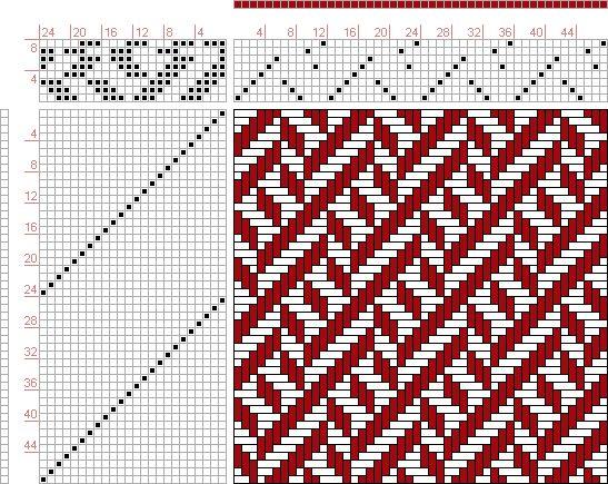 Hand Weaving Draft: 12328, 2500 Armature - Intreccio Per Tessuti Di Lana, Cotone, Rayon, Seta - Eugenio Poma, 8S, 24T - Handweaving.net Hand Weaving and Draft Archive