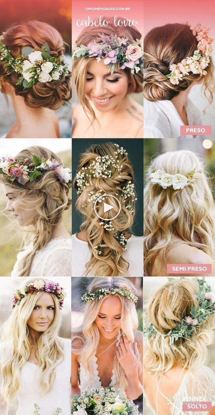 Coiffures de mariage | Cheveux avec des arrangements de f - #arrangements #Hair #Hairstyles ....