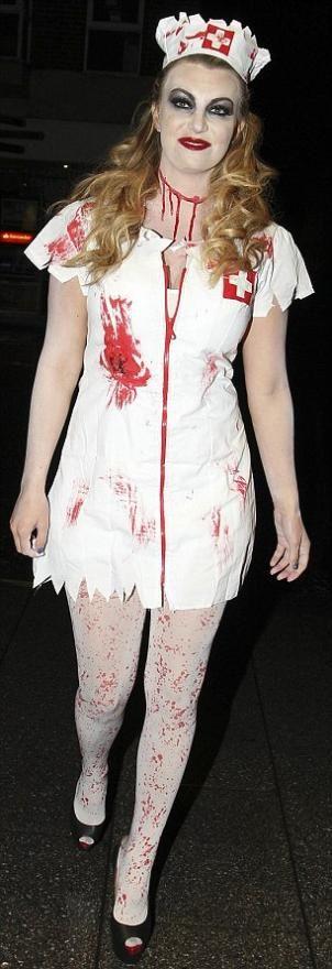 A Zombie Nurse Costume