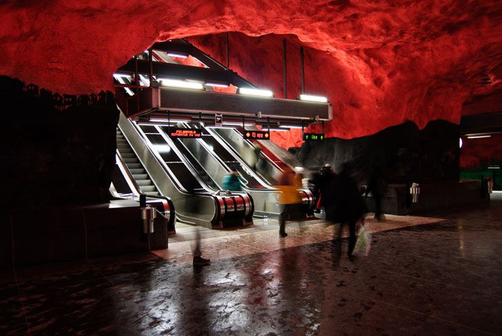 Stockholm's Subway System is the World's Largest Underground A...