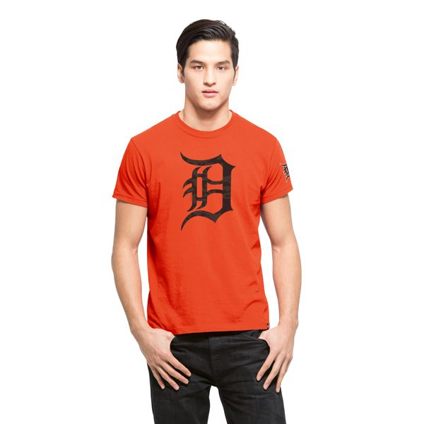 Detroit Tigers M29 Frozen Rope T-Shirt Mens Slim Orbit Orange 47 Brand