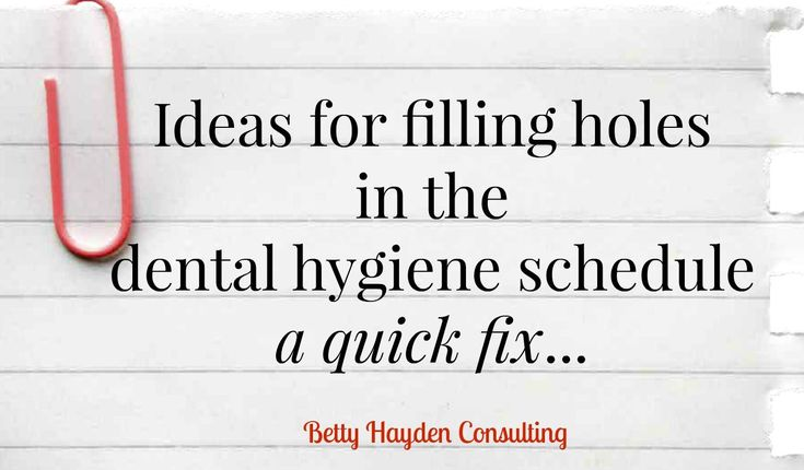 Dental Marketing and Dental Practice Management -scheduling tips to fill hygiene schedule - summer dental marketing