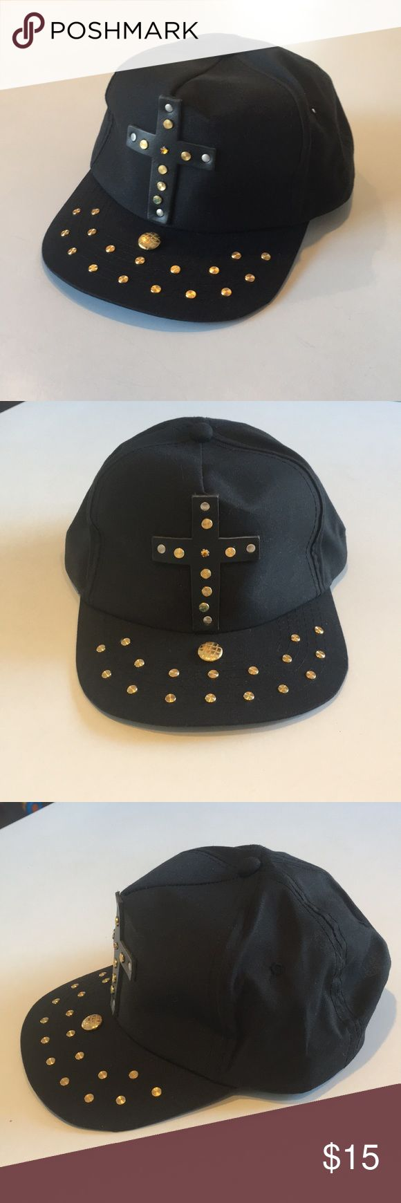 Patricia Field's Adjustable Custom SnapBack Hat Super cool, custom, cross hardware, snap back hat from Patricia Field's in NYC.  Very Janet Jackson Rhythm Nation.  Never Worn. Excellent Condition. Patricia Field Accessories Hats