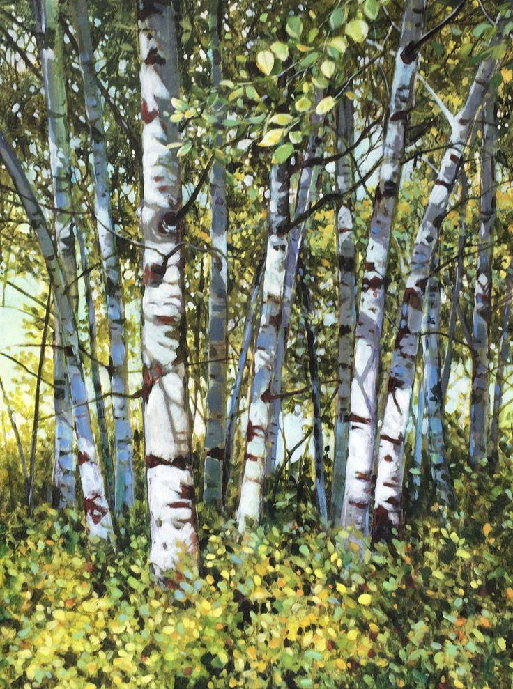 """Sunny Grove 36 x 24"""" acrylic"""