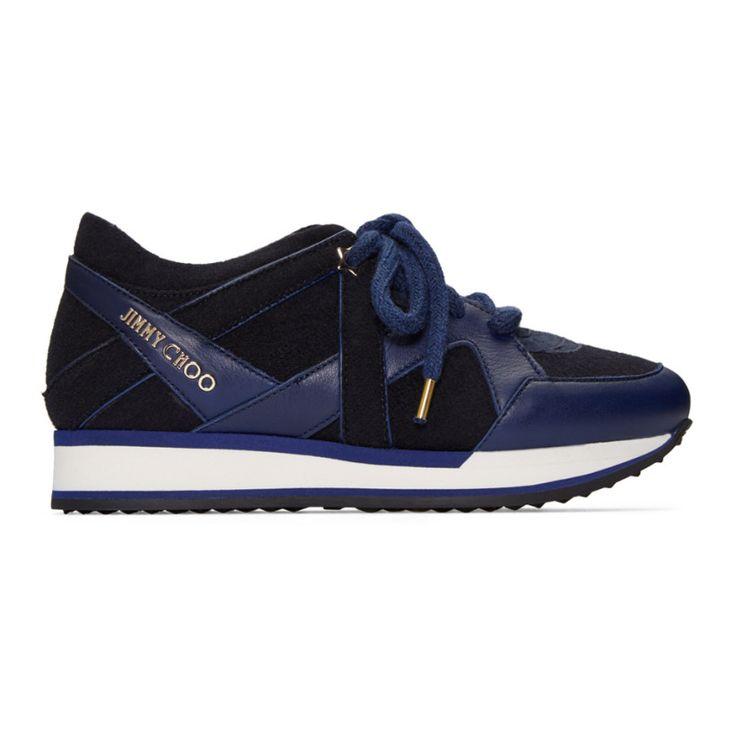 Jimmy Choo - Navy Felted London Sneakers