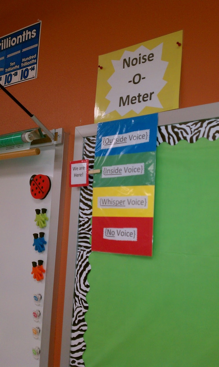 Innovative Ideas For Classroom Management ~ Noise o meter rti pinterest classroom management
