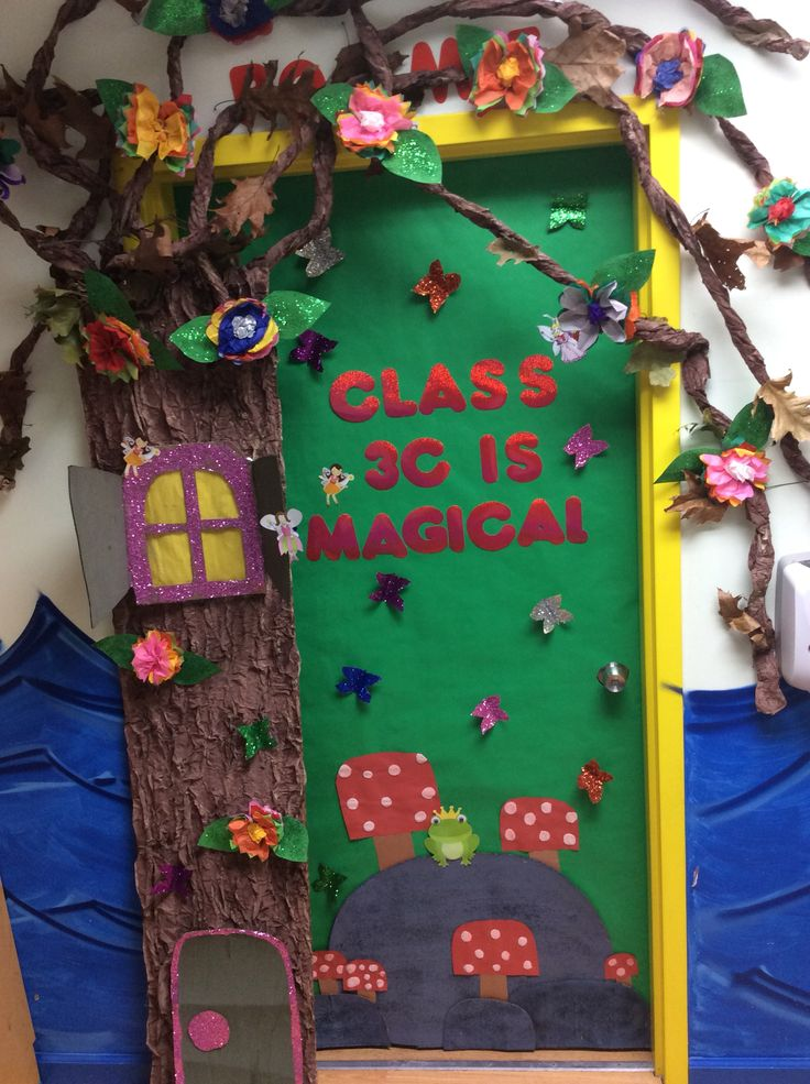 My enchanted forest themed classroom.                                                                                                                                                     More