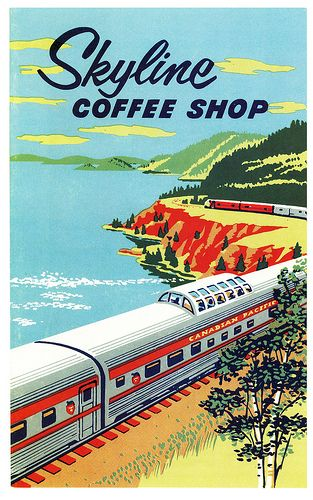 Canadian Pacific Skyline Coffee Shop poster.
