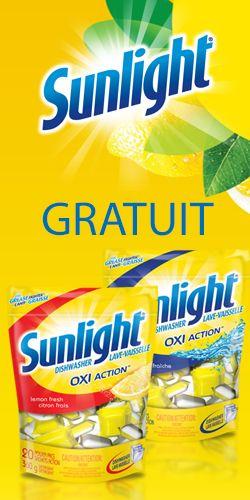 Gratuit savon Sunlight Oxi Action pour lave-vaisselle. Fin le 6 octobre.  http://rienquedugratuit.ca/echantillon-gratuit/savon-sunlight-oxi-action/