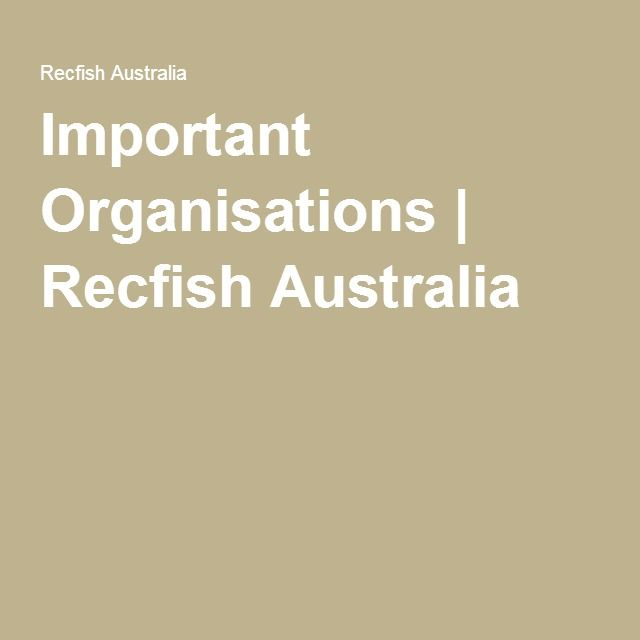 Important Organisations | Recfish Australia
