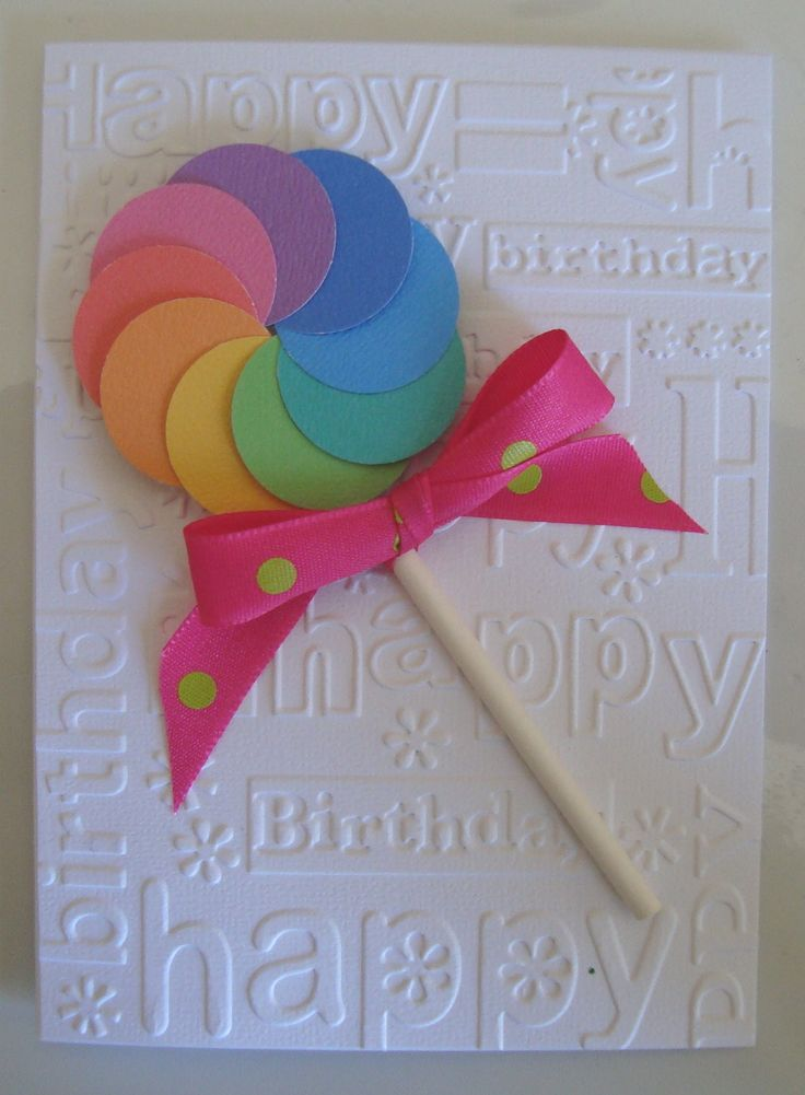 kid's birthday card - Credit to: happystampingdesigns.blogspot.com for the idea.