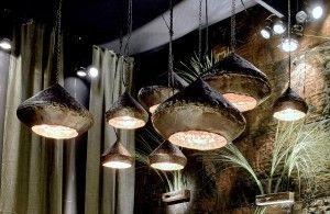 Koperen hanglampen rond - 100% organisch - Met de hand afgewerkt in Belgische workshops - Copper hanging lamps round - Hand finished - #Woontheater