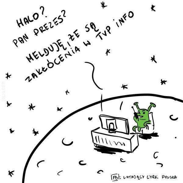 Halo? Panie prezesie? Melduję, że są zakłócenia... #zakłócenia #TVPinfo #prezes