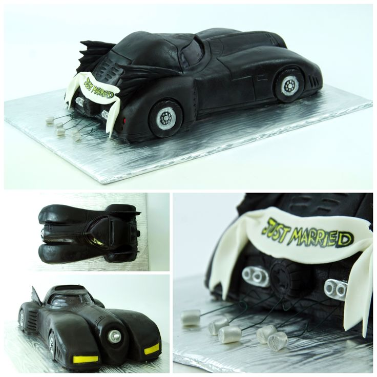 Just Married Batman Grooms Cake - http://www.hannahjoyscakes.com/