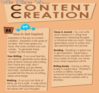 #4 - The Keys To Content Creation - How to get inspired! .. Visit Website SEO Chick FB page at www.facebook.com/...