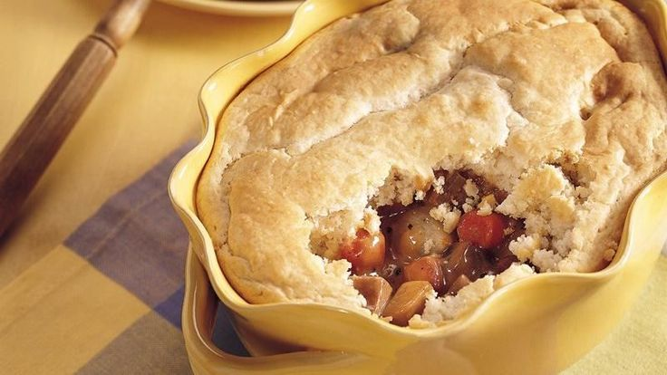 Making pot pies with Bisquick® mix is foolproof and delicious!