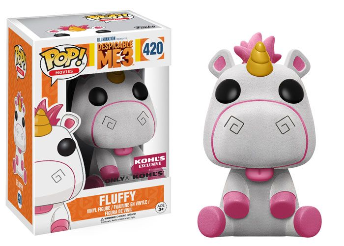 Coming Soon: Despicable Me 3 Exclusives! | Funko    Pop! Movies: Flocked Fluffy – Kohl's