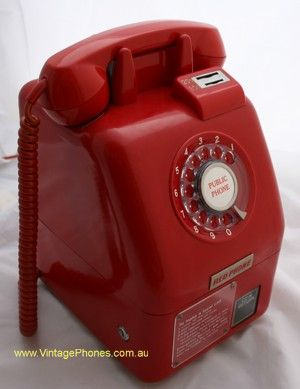 Victa Red Coin Pay Phone Telecom. I remember the one we had in our lunch room at work.....as I recall it was 15 cents for a local call