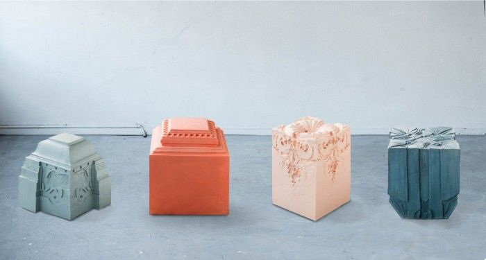 Over the last few month Nynke Koster researched new architectural ornaments which became the inspiration for her new stools collection, Elements of Time. Over time she plans on collecting mo...