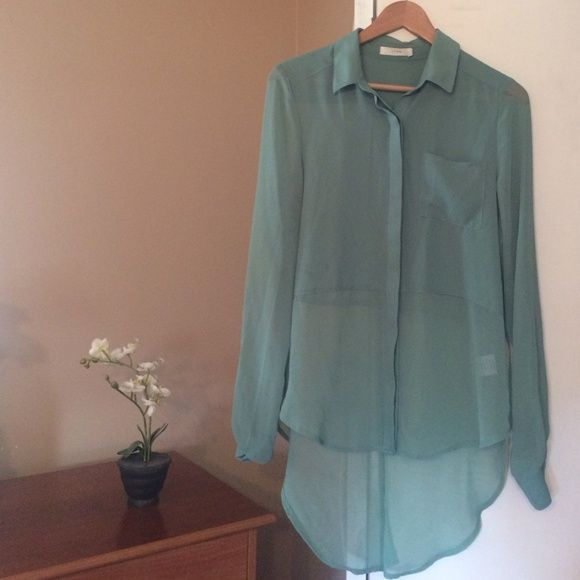 Sheer High Low Blouse Watermark pictured Lush Tops Blouses