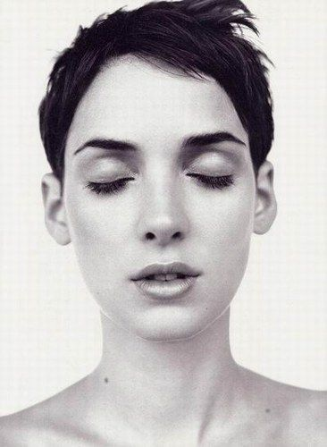 Winona Ryder could carry off the androgynous look beautifully
