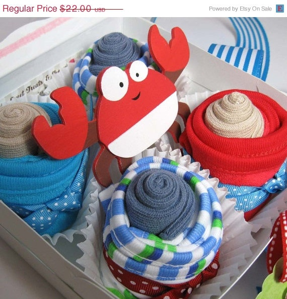 Baby Boy Gift Box, Perfect For The Upcoming Beach Or Nautical Shower!