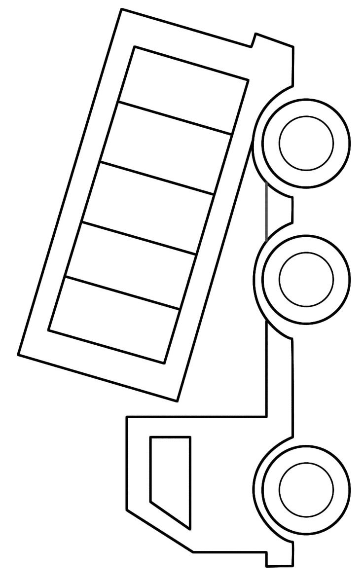 Coloring pages for trucks - Dump Truck Printable