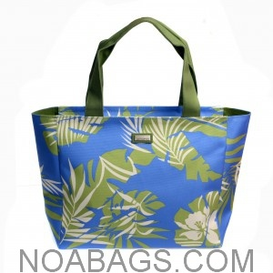 Jim Thompson Luxury Canvas Summer Bag Floral Blue & Green