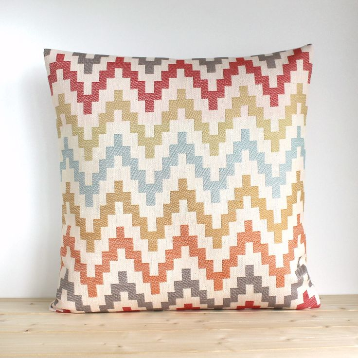 Zigzag pillow cover, 16x16, 18x18, 20x20 pillow sham, Scandinavian cover, Zigzag Pillowcase, Orange Pillow Cover - Scandi Zigzag Spice by CoupleHome on Etsy https://www.etsy.com/listing/539510049/zigzag-pillow-cover-16x16-18x18-20x20