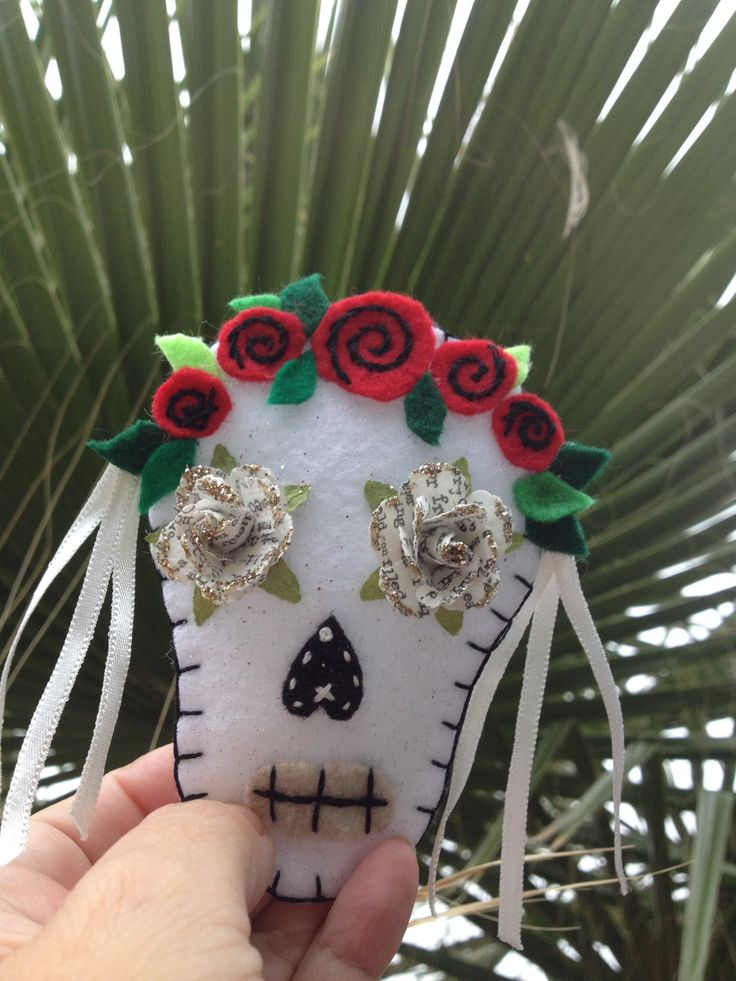 Traditional senorita instagram at almarosacrafts felt for Day of the dead arts and crafts