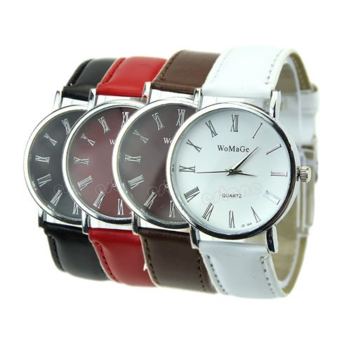 Womens-Class-Fashion-Surface-Design-Leather-Dial-Quartz-Analog-Wristwatches